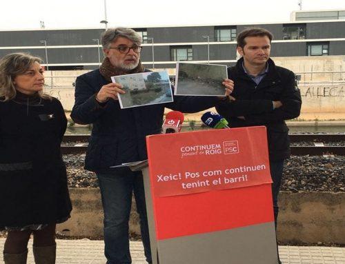 El PSC de Tortosa denuncia la falta de manteniment de la via pública al barri de Sant Llàtzer