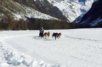 Kiko Vallespí a la Valgaude Traineau. Font: Facebook Ebre Mushing