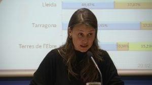 La consellera d'Agricultura, Meritxell Serret, valorant els resultats de les eleccions agràries