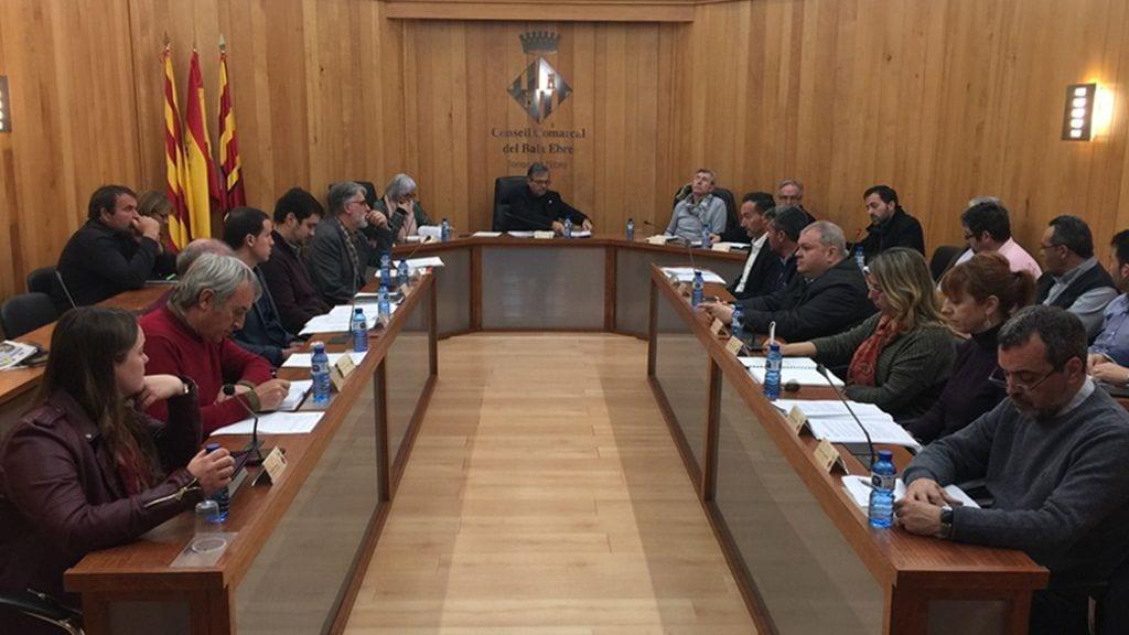 Ple del Consell Comarcal del Baix Ebre