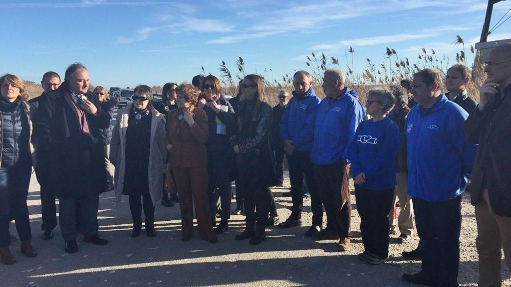 Visita de la delegació d'eurodiputats al Delta de l'Ebre