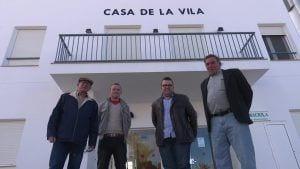 D'esquerra a dreta, Juan, Paez, Sancho i Hidalgo, els quatre alcaldables de Poble Nou