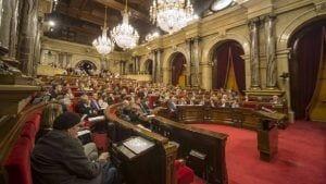 Imatge de la sessió de dimecres al Parlament