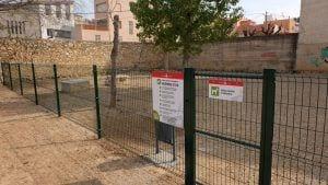 La nova àrea d'esbarjo canina s'ubica al barri de Sant Llàtzer. Foto: Ajuntament de Tortosa