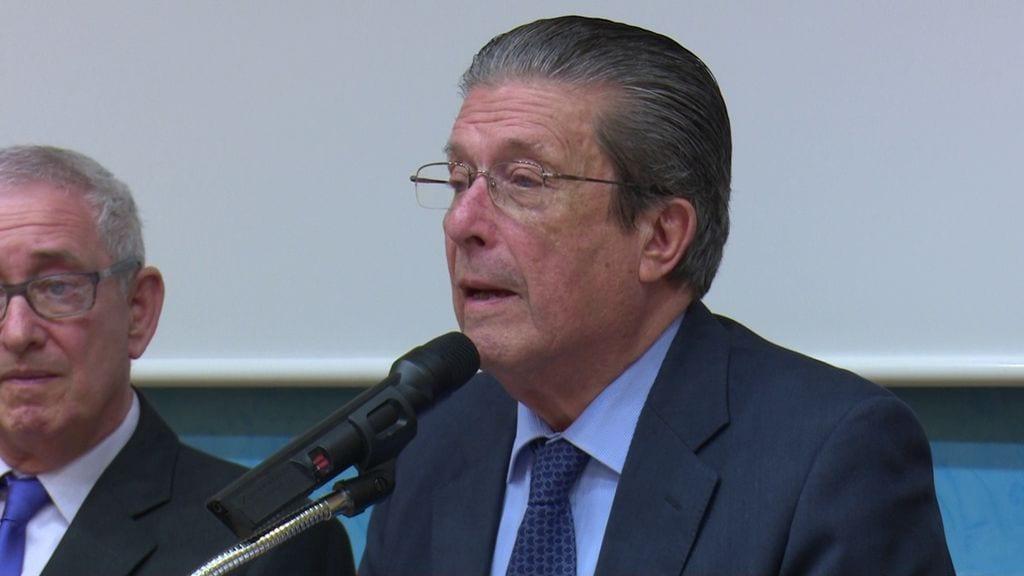 Federico Mayor Zaragoza, en un acte aquesta tarda a Tortosa
