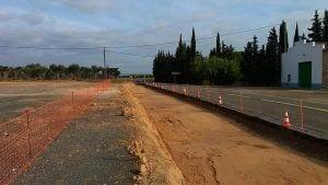 Carretera T-324 al tram d'accés a la població de Benissanet/Cedida