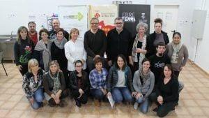 Representants del Consell Comarcal del Baix Ebre i els restauradors en l'acte de clausura / CC Baix Ebre