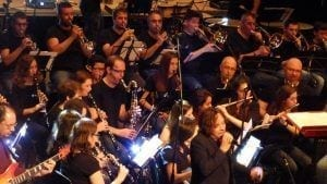 La Banda de Música de Tortosa en la primera edició/ Cedida