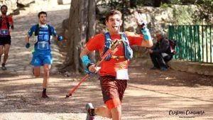 Els corredors Pau Capell, Andreu Simon i Daniel Aguirre durant la cursa / Cristina Caminero