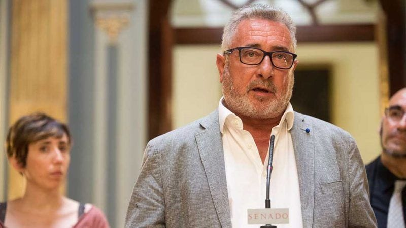 El republicà Miquel Aubà, aquest dimarts al Senat / Cedida
