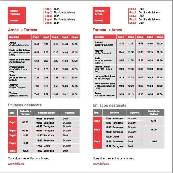 horaris nova parada bus Horta i Arnes.jpg