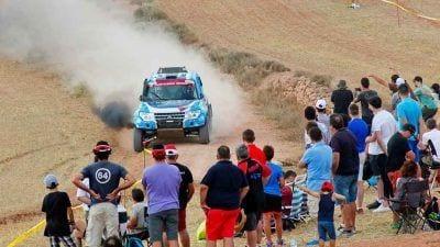Gerard Subirats pilotant el Mitsubishi Montero Proto / SB Hotels Rally Team