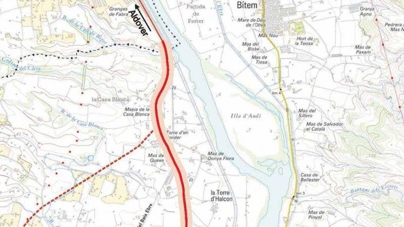 Part del tram de c-12 entre Tortosa i Aldover on es realitzaran les obres de millora del ferm /TES