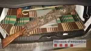 Escopeta requisada / Mossos d'Esquadra
