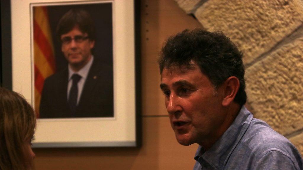 L'alcalde de Batea, Joaquim Paladella, al ple del 25 de juliol. Foto: Jordi Marsal (ACN)