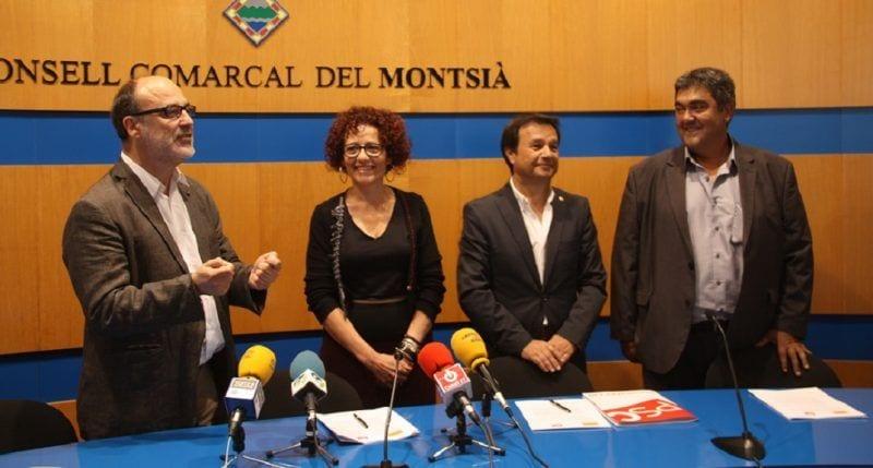 foto d'arxiu de l'anunci de pacte al Consell Comarcal entre ERC i PSC