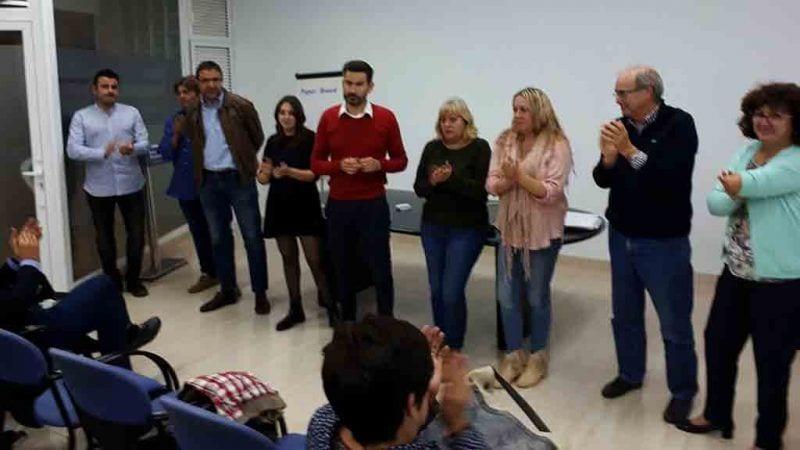 Iván Romeu, al centre de la imatge, nou president del PDeCAT al Montsià / Cedida