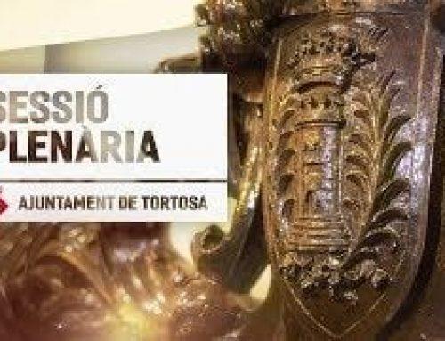 Sessió Plenària – Ajuntament de Tortosa