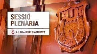 Sessió Plenària - Ajuntament d'Amposta