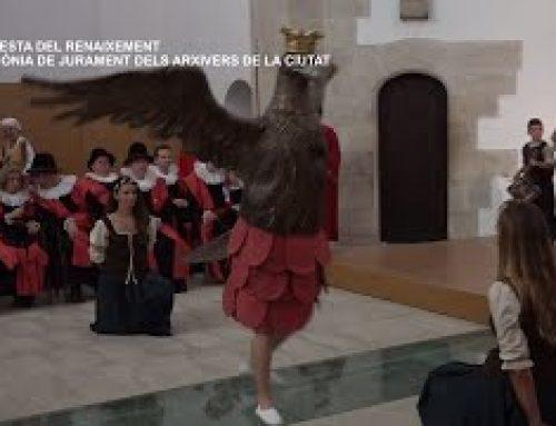 XXIII Festa del Renaixement: Cerimònia de jurament dels arxivers de la ciutat i entrega d'estandard
