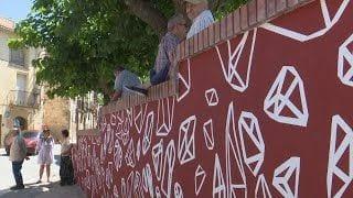 Inauguració del mural 'Batalla de l'Ebre 1938-2018' a Vilalba dels Arcs