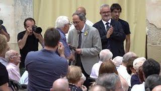 Acte commemoració 80 anys batalla de l'Ebre a Corbera amb Quim Torra