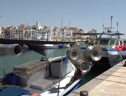La pandèmia del coronavirus redueix a mínims l'activitat pesquera a la costa de l'Ebre