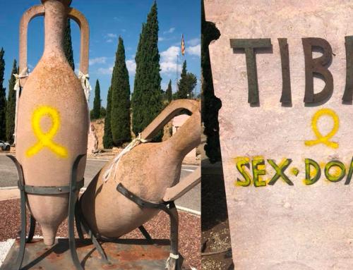 """Els CDR diuen que les pintades de Tivissa sobre el patrimoni són """"atacs de falsa bandera"""""""