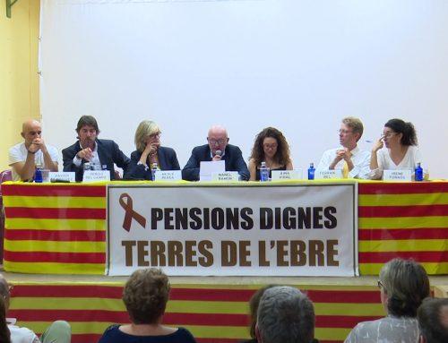 Els partits polítics debaten sobre el futur de les pensions a Tortosa