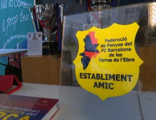 Els penyistes del Barça de Móra d'Ebre tindran descomptes a les botigues del municipi