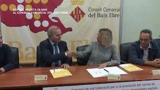 Repsol firma un conveni de col·laboració amb el Consell Comarcal del Baix Ebre pel transport adaptat