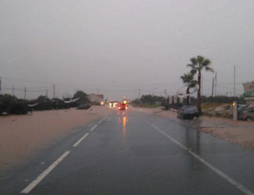 Tallada la N-340 per inundacions i pluges torrencials al Montsià
