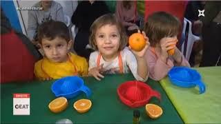 Ens apuntem a exprimir taronjes i a provar els olis a la Fira de Santa Bàrbara
