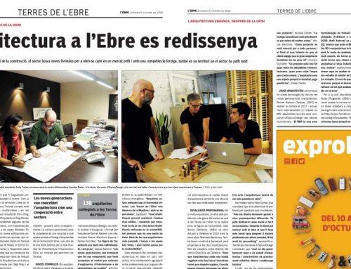 El setmanari L'EBRE rep el suport del Col·legi de Periodistes per l'atac rebut per part del Col·legi d'Arquitectes