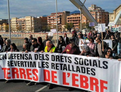 400 manifestants a Tortosa per unes pensions dignes i els drets socials