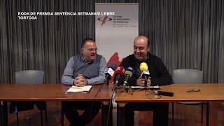 Roda de premsa sentència Setmanari L' Ebre