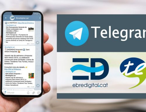 Ebredigital.cat i Canal Terres de l'Ebre estrenen nous canals d'informació a Telegram