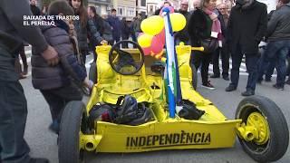 Baixada de trastos a les Festes de Sant Antoni del Perelló