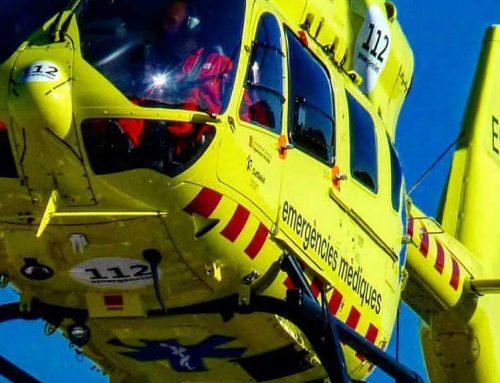Un ferit greu en un accident a la carretera C-12 a Flix