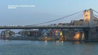 Nova il·luminació de façana fluvial d'Amposta