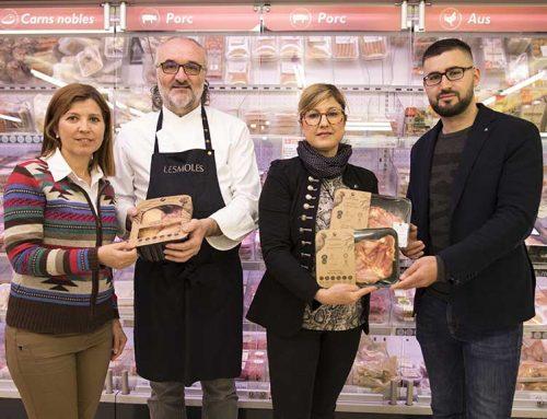 Jeroni Castell apadrina els productes de la Granja Luisiana als supermercats Condis