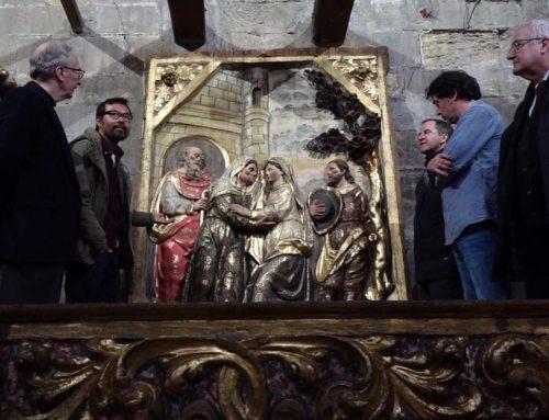Les primeres peces restaurades del retaule de Santa Anna tornen a la Catedral de Tortosa