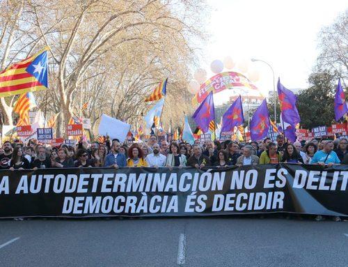 """L'independentisme marxa per Madrid al crit de """"l'autodeterminació no és delicte"""""""