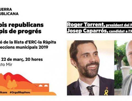 Expectació amb la presentació de la candidatura d'ERC a la Ràpita