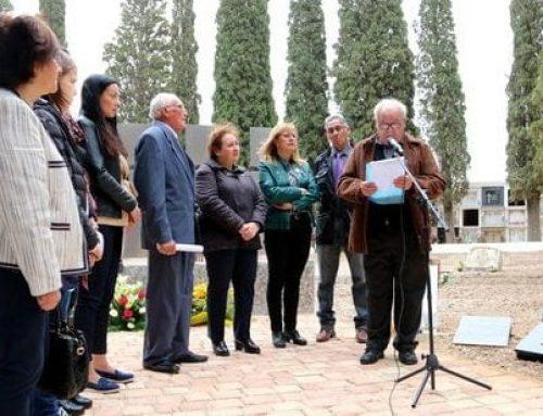 Homenatgen al sergent republicà Andrés Gallego Méndez, enterrat al Perelló i mort a la Batalla de l'Ebre