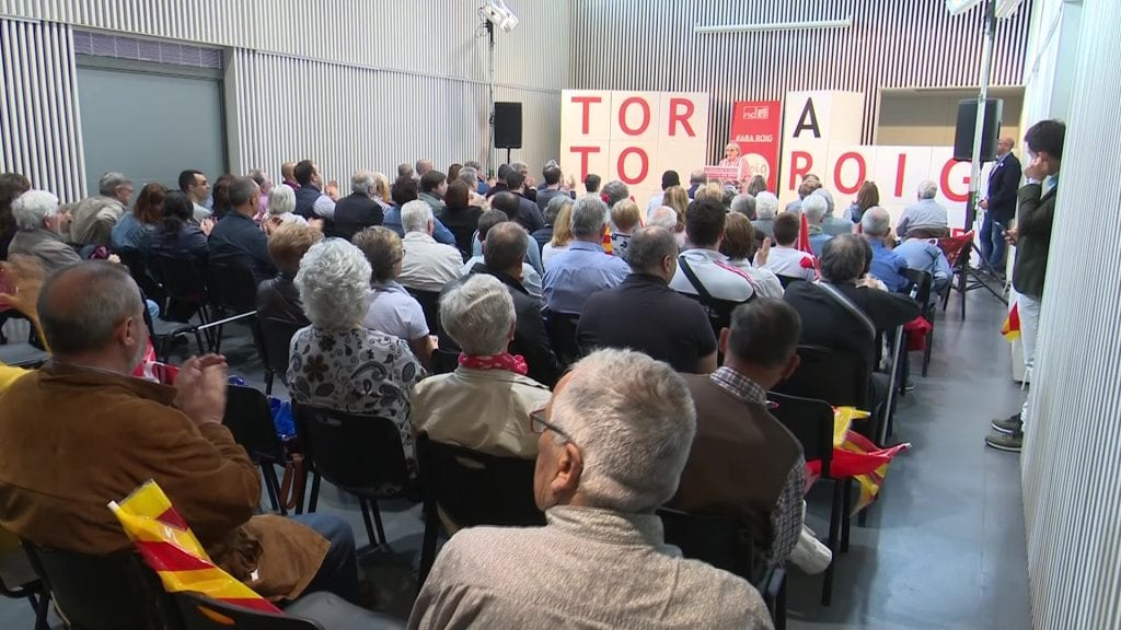 Acte del PSC Tortosa al centre cívic de Ferreries