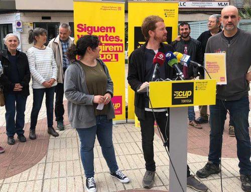 La CUP presentarà al ple de Tortosa dues mocions socials