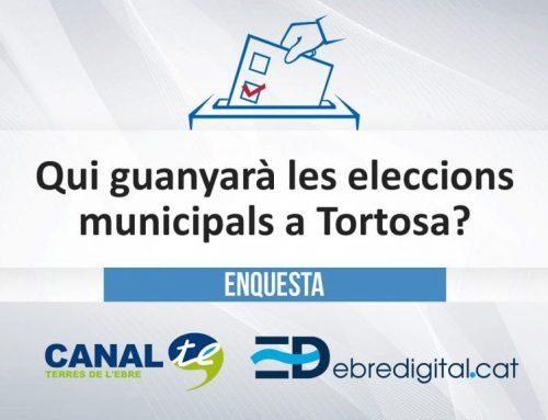 [ENQUESTA] Qui guanyarà les eleccions municipals a Tortosa?