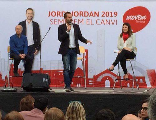 Jordi Jordan demana el vot progressista per engendrar el canvi de política a Tortosa