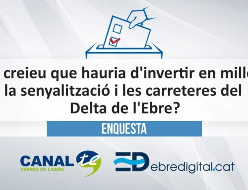 Qui creieu que hauria d'invertir en millorar la senyalització i les carreteres del Delta de l'Ebre?
